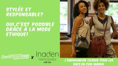 Mode éthique responsable INADEN sacs en cuir made in Africa